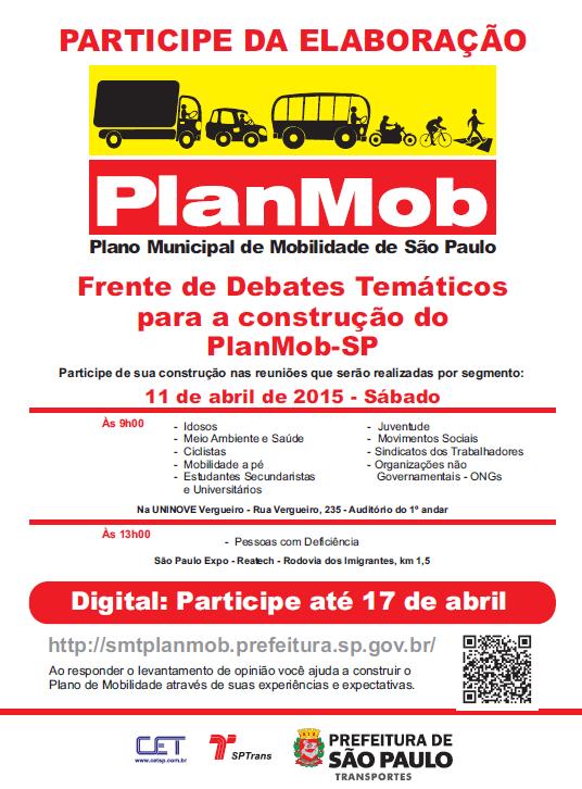 Frente de debates para o PlanMob 11-04-15