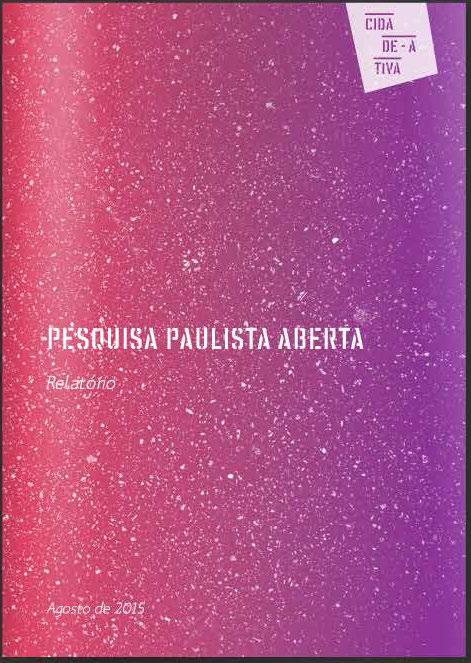 Relatório Paulista Aberta - Cidade Ativa 2015