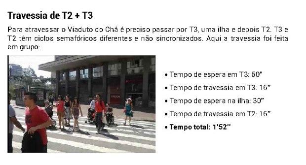 Desafio da Travessia - tempos de travessia T2 + T3
