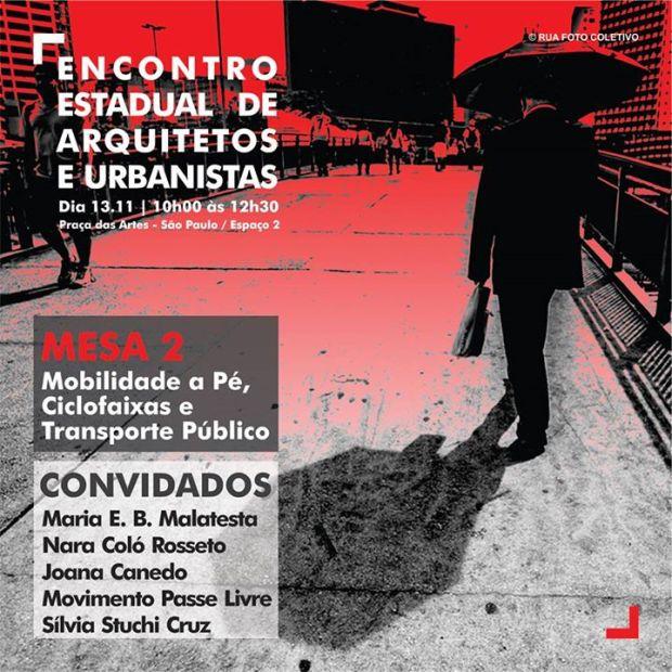 Encontro de arquitetos e urbanistas - Mesa Mobilidade
