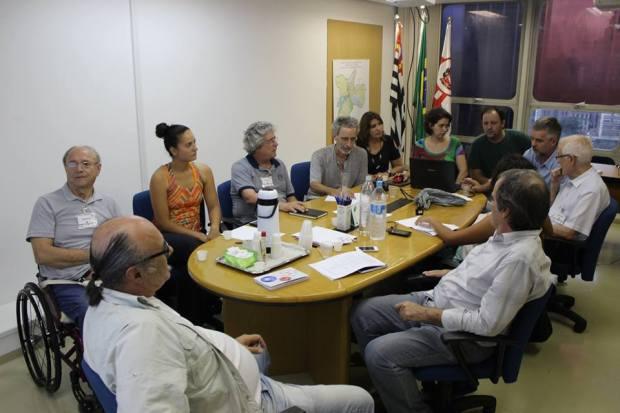 Instalação da Camara Tematica pela Mobilidade a Pé, reunião de 11/11/15. Foto - CMTT