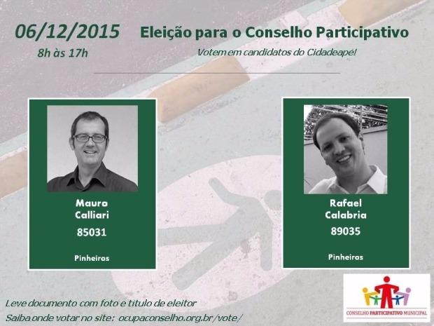 Candidatos Conselho 2015