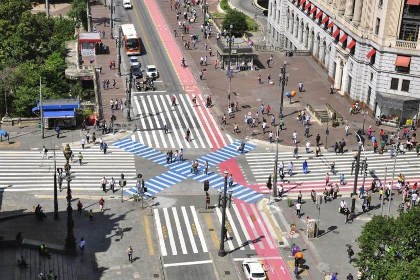 São Paulo começou a implantação das Áreas 40 em 2013. Foto: Mariana Gil-WRI Brasil Cidades Sustentáveis