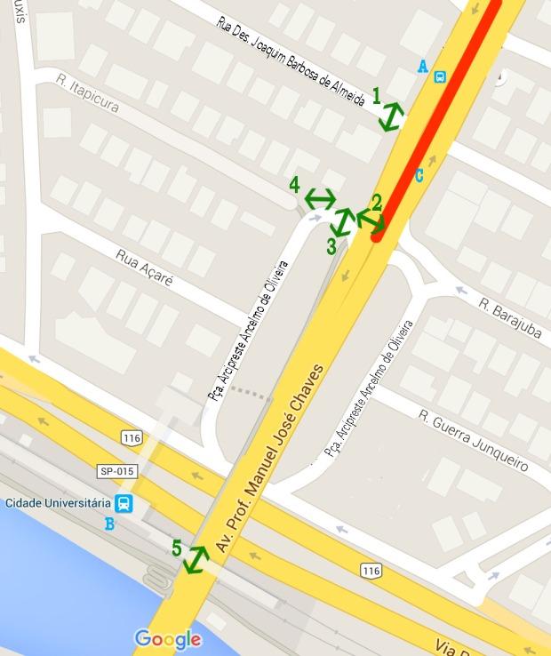 Mapa do local - com os pontos