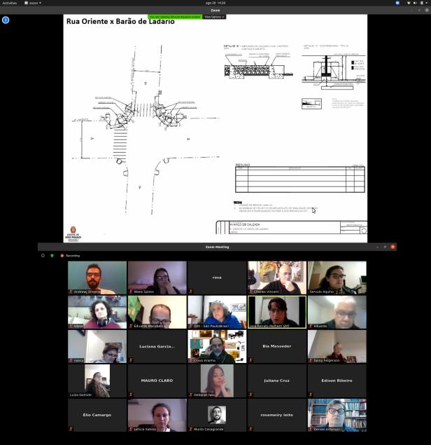 Oficina participativa virtual de co-criação para Ruas Ativas na pandemia.